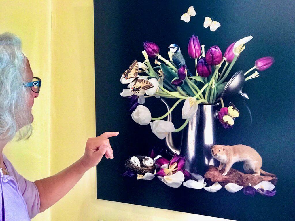 Tulpen mit Mauswiesel